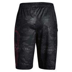 Under Armour Girls SC30 Shorts Black / Pink XS, Black / Pink, rebel_hi-res