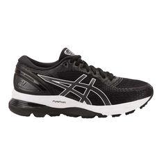 Asics GEL Nimbus 21 Womens Running Shoes Black / Grey US 6, Black / Grey, rebel_hi-res