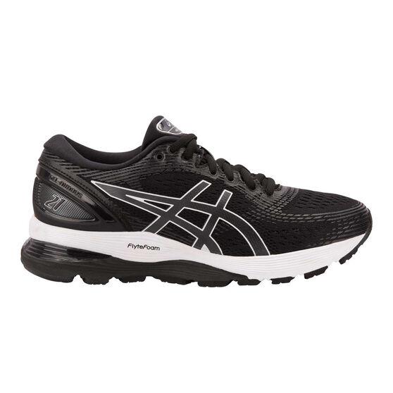 Asics GEL Nimbus 21 Womens Running Shoes, Black / Grey, rebel_hi-res