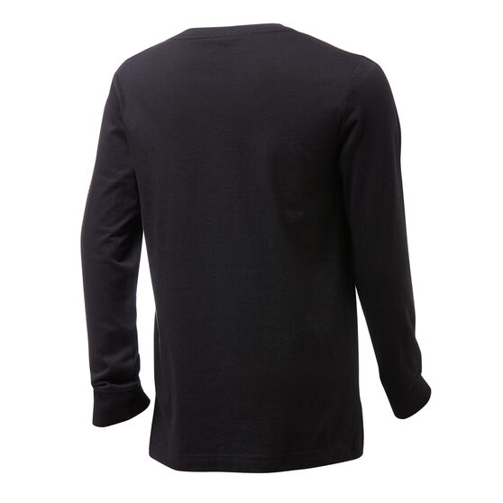 Nike Boys Jordan Jumpman Blindside Long Sleeve Tee Black/White 6, Black/White, rebel_hi-res