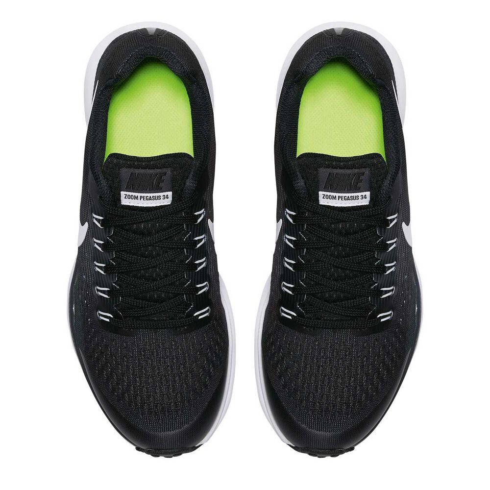 official photos 81718 56521 Nike Zoom Pegasus 34 Kids Running Shoes Black   White US 1, Black   White