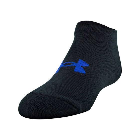 Under Armour Girls Solid No Show Socks 6 Pack, , rebel_hi-res