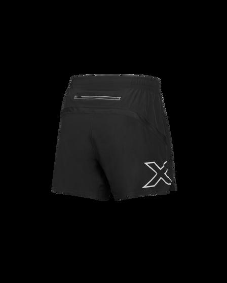 2XU Mens XVENT 5in Shorts Black XL, Black, rebel_hi-res