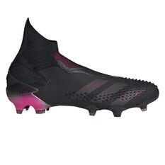 adidas Predator Mutator 20+ Football Boots Black/Pink US Mens 7 / Womens 8, Black/Pink, rebel_hi-res