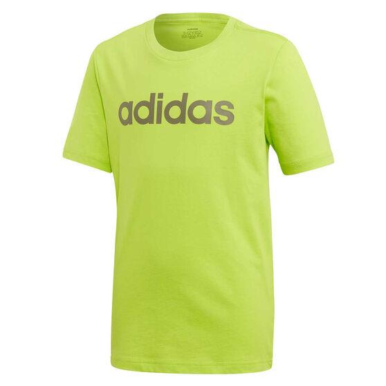 adidas Boys Essentials Linear Tee Green 14, Green, rebel_hi-res