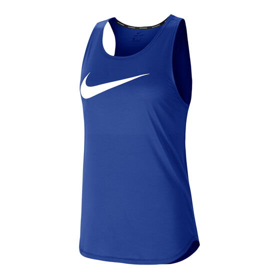 Nike Womens Swoosh Running Tank, Blue, rebel_hi-res
