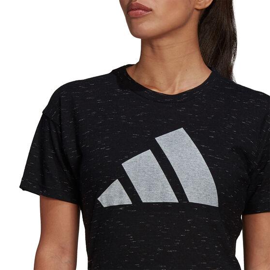 adidas Womens Sportswear Winners 2.0 Tee, Black, rebel_hi-res