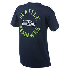 Seattle Seahawks Mens Drimer Tee Navy S, Navy, rebel_hi-res