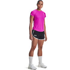 Under Armour Womens Fly By 2.0 Brand Shorts, Black, rebel_hi-res