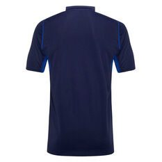 North Melbourne Kangaroos 2020 Mens Media Polo Blue/Navy S, Blue/Navy, rebel_hi-res