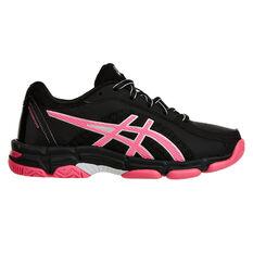 Asics Gel Netburner Super 8 Girls Netball Shoes Black / Pink US 1, Black / Pink, rebel_hi-res
