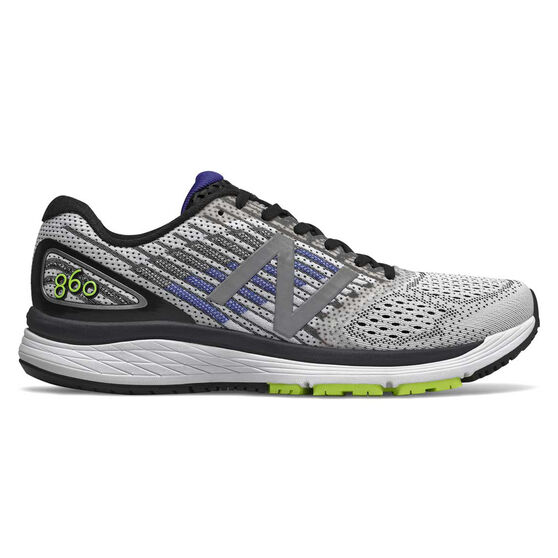New Balance 860v9 Mens Running Shoes White / Black US 8, White / Black, rebel_hi-res