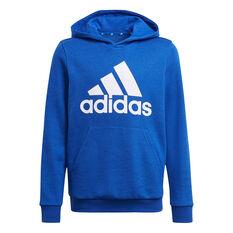 adidas Boys VF Essential Big Logo Hoodie Blue 4, Blue, rebel_hi-res