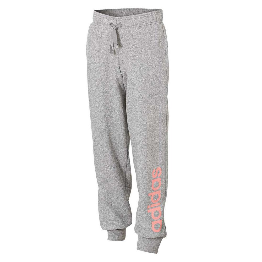 933ea4d26278 adidas Girls Essentials Linear Pants Grey 8