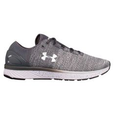 Under Armour Charged Bandit 3 Mens Running Shoes Grey / White US 7, Grey / White, rebel_hi-res