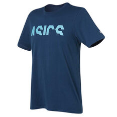 Asics Mens Logo Tee Blue S, Blue, rebel_hi-res