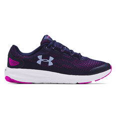 Under Armour Charged Pursuit 2 Kids Running Shoes Navy US 4, Navy, rebel_hi-res