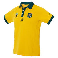 Wallabies 2019 Mens Rugby World Cup Traditional Jersey Gold S, Gold, rebel_hi-res