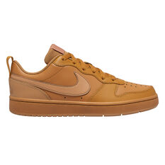 Nike Court Borough Low 2 Kids Casual Shoes Brown US 4, Brown, rebel_hi-res