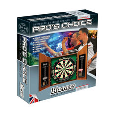 Harrows Pro Choice Dartboard and Cabinet Set, , rebel_hi-res