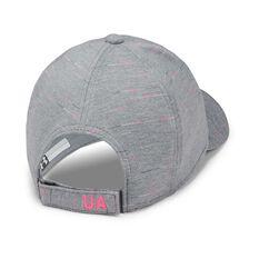Under Armour Girls Space Dye Renegade Cap Grey / Pink OSFA, Grey / Pink, rebel_hi-res