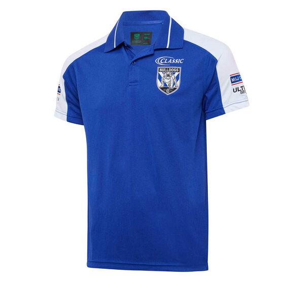 Canterbury-Bankstown Bulldogs 2020 Mens Media Polo, Blue, rebel_hi-res