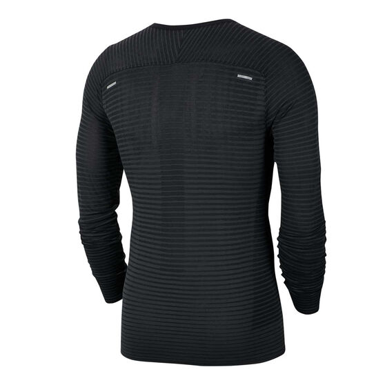 Nike Mens TechKnit Ultra Running Top Black S, Black, rebel_hi-res