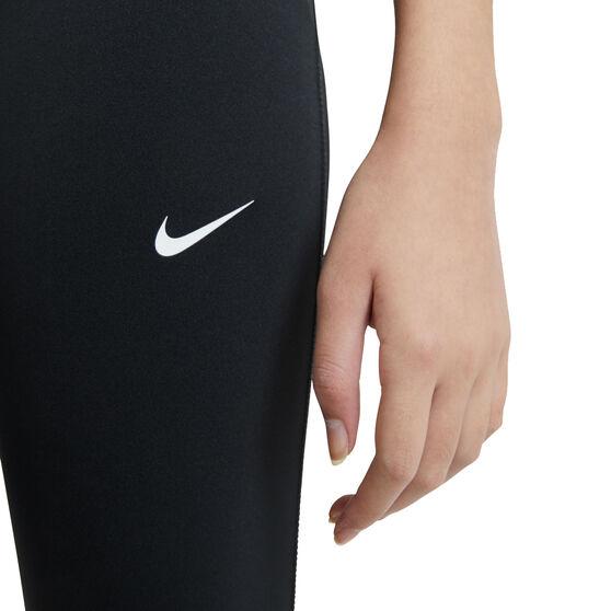 Nike Pro Girls Tights, Black, rebel_hi-res