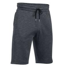 Under Armour Mens Baseline Fleece Shorts Grey S, Grey, rebel_hi-res