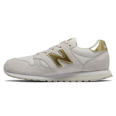 New Balance 520 Womens Casual Shoes White/Gold US 6, White/Gold, rebel_hi-res