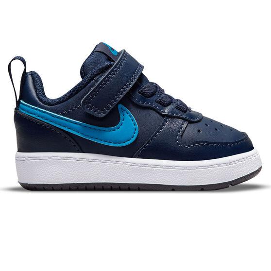 Nike Court Borough Low 2 Toddlers Shoes, Navy, rebel_hi-res