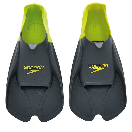 Speedo Biofuse Swim Training Fin Grey 13-14, Grey, rebel_hi-res