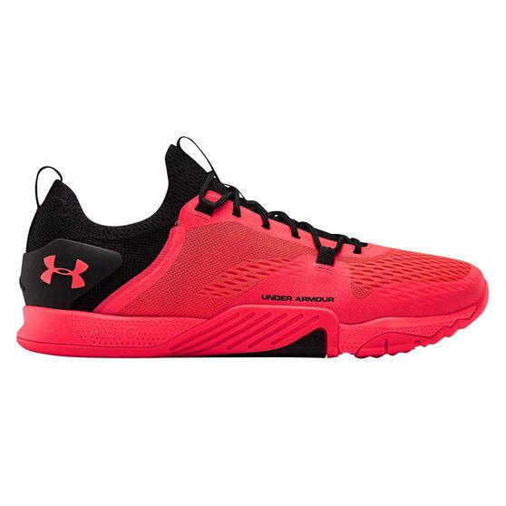 Under Armour Tribase Reign 2.0 Mens Training Shoes, Black / Red, rebel_hi-res