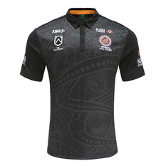 Indigenous All Stars 2020 Mens Polo Black S, Black, rebel_hi-res