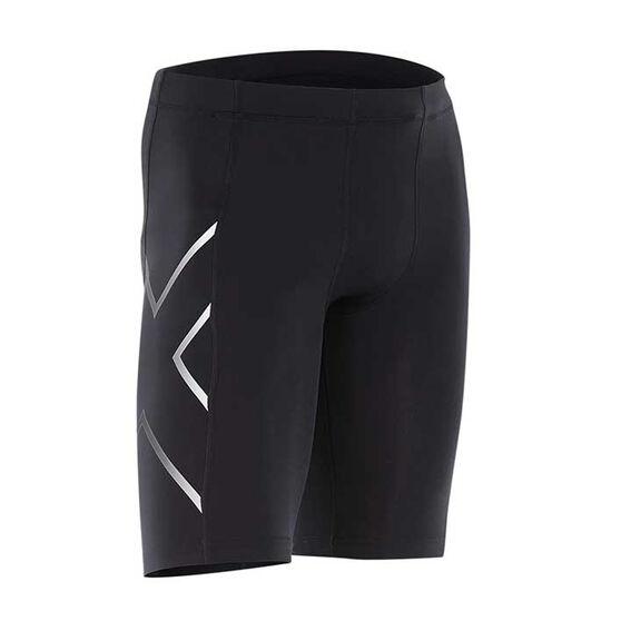 2XU Mens Compression Shorts, Black, rebel_hi-res