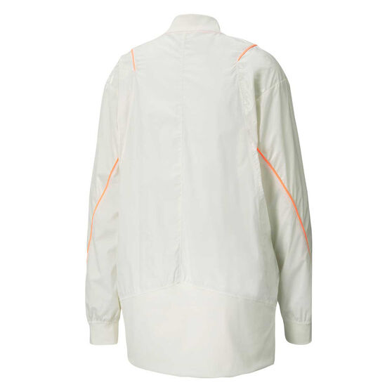 Puma Womens Pearl Woven Jacket, White, rebel_hi-res