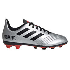 adidas Predator 19.4 FXG Kids Football Boots Silver / Black US 11, Silver / Black, rebel_hi-res