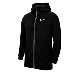 Nike Mens Dri-FIT Full Zip Fleece Training Hoodie Black XS, Black, rebel_hi-res