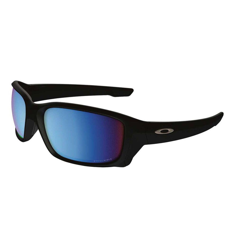 88d4d1547dc Oakley Straightlink Prizm Deep Water Polarised Sunglasses Matte Black    Prizm Deep Water