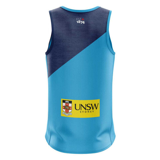 NSW Waratahs 2020 Mens Training Singlet Blue L, Blue, rebel_hi-res