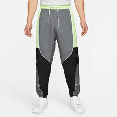 Nike Mens Throwback Basketball Pants Grey XS, Grey, rebel_hi-res