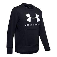 Under Armour Womens Favourite Fleece Sportstyle Graphic Sweatshirt Black XS, Black, rebel_hi-res