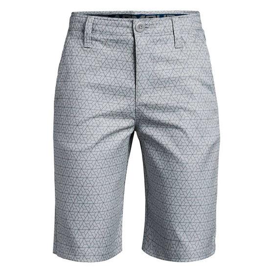 Under Armour Boys Match Play Golf Shorts Grey / Teal 8, , rebel_hi-res
