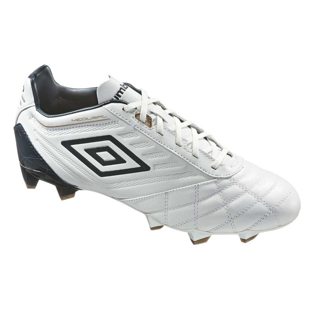 Umbro Medusa Pro HG Mens Football Boots White   Gold US 9.5 Adult ... 0291c64294
