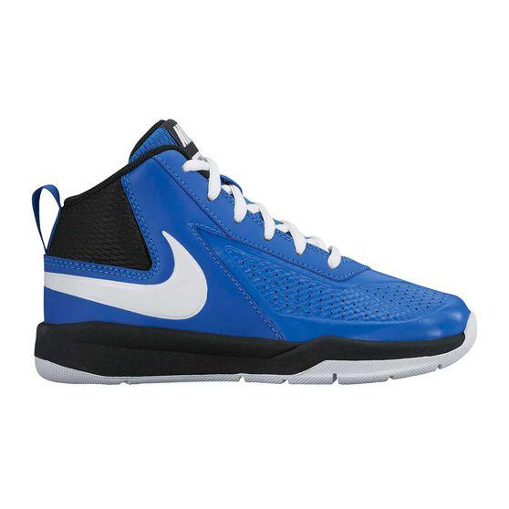 brand new c8c15 7d8c7 Nike Team Hustle D 7 PS Junior Boys Basketball Shoes Blue   White US 11,