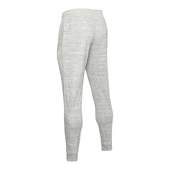 Under Armour Mens Sportstyle Terry Track Pants White M, White, rebel_hi-res