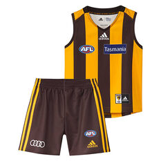 Hawthorn Hawks 2019 Infant Home Minikit Yellow / Black 5/04/2018, Yellow / Black, rebel_hi-res