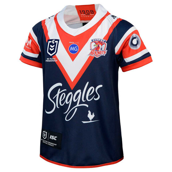 Sydney Roosters 2020 Kids Home Jersey, Navy/Red, rebel_hi-res