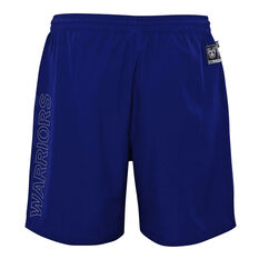 Warriors 2021 Kids Sports Shorts Blue S, Blue, rebel_hi-res