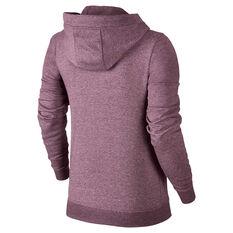 Nike Womens Sportswear Fleece Hoodie Purple XS, Purple, rebel_hi-res